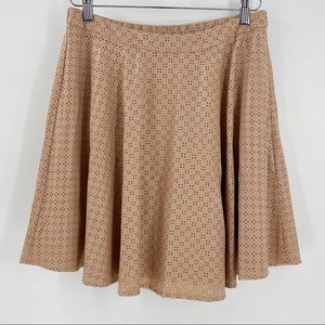ANTHRO SUNDAY IN BROOKLYN Perforated Swing Skirt